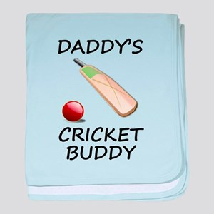 Daddys Cricket Buddy baby blanket